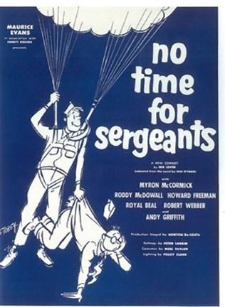 Framed No TIme For Sergeants (Broadway) Print