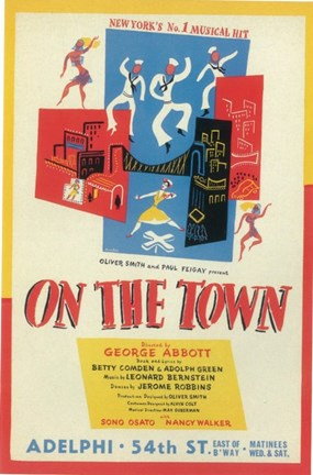 Framed On The Town (Broadway) Print