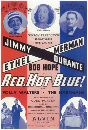 Framed Red Hot And Blue (Broadway) Print