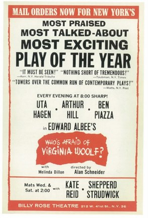Framed Who's Afraid Of Virginia Woolf (Broadway) Print