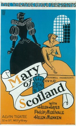 Framed Mary Of Scotland (Broadway) Print