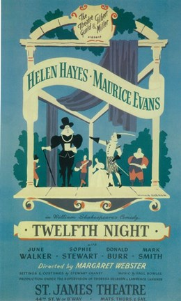 Framed Twelfth Night (Broadway) Print