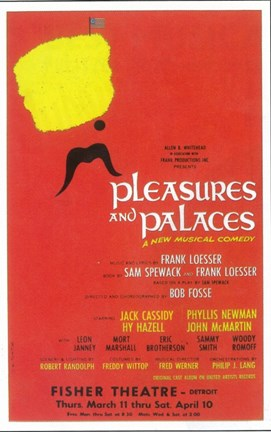 Framed Pleasures and Palaces (Broadway) Print