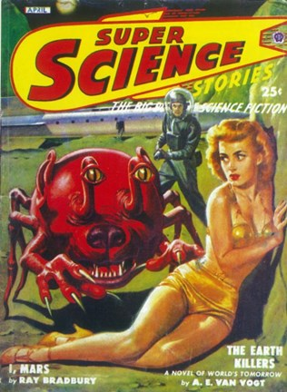 Framed Super Science Stories (Pulp) Print