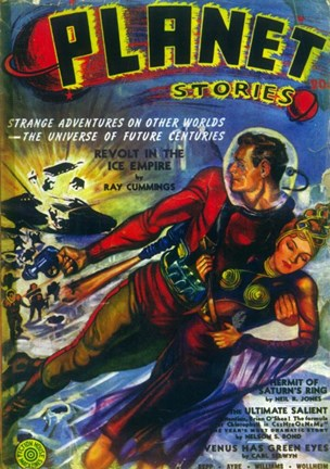 Framed Planet Stories (Pulp) Print