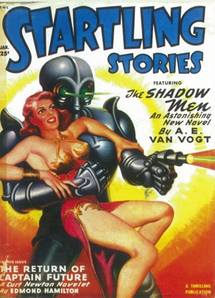 Framed Startling Stories (Pulp) Print