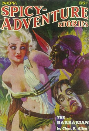 Framed Spicy Adventure Stories (Pulp) Print