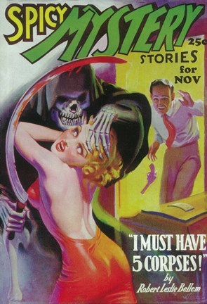 Framed Spicy Mystery Stories (Pulp) Print