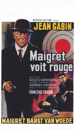 Framed Maigret Sees Red Print