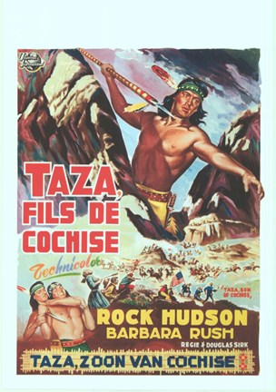 Framed Taza Son Of Cochise Print