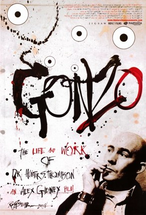 Framed Gonzo: The Life and Work of Dr. Hunter S. Thompson Print