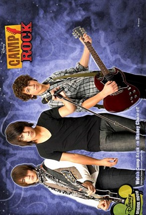 Framed Camp Rock Jonas Brothers Print