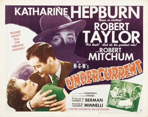 Framed Undercurrent movie poster Print