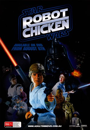 Framed Robot Chicken: Star Wars Print
