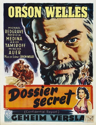 Framed Mr. Arkadin - Orson Welles Print