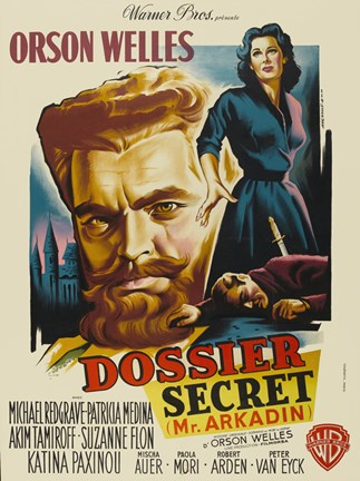 Framed Mr. Arkadin - Dossier Secret Print