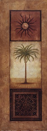 Framed Palm In The Sunlight Print