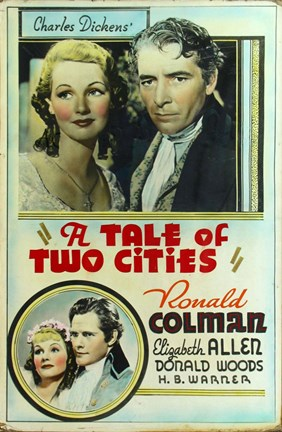 Framed Tale of Two Cities Movie Poster Print