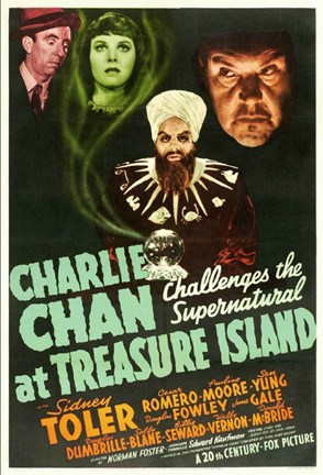 Framed Charlie Chan at Treasure Island Print