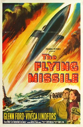 Framed Flying Missile Print