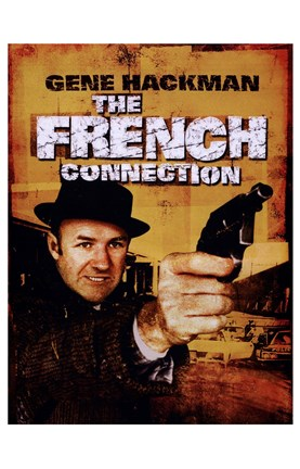 Framed French Connection Gene Hackman Print