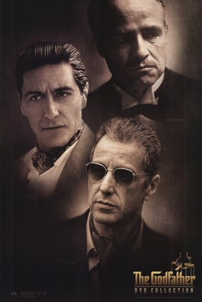 Framed Godfather Cast Print