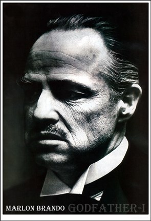 Framed Godfather Marlon Brando Print