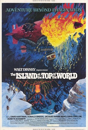 Framed Island at the Top of the World Print