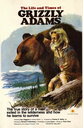 Framed Life and Times of Grizzly Adams Print