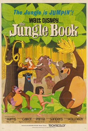 Framed Jungle Book Jungle Jumpin' Print