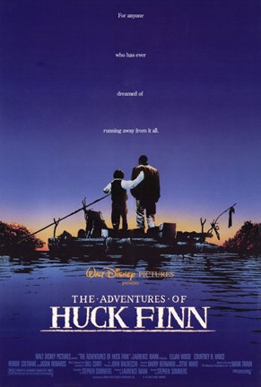 Framed Adventures of Huck Finn Print