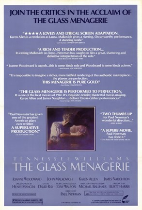 Framed Glass Menagerie Critics Aclaim Print