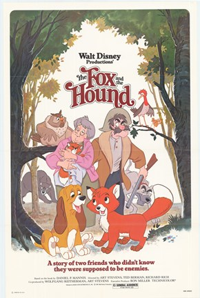 Framed Fox and the Hound Walt Disney Print