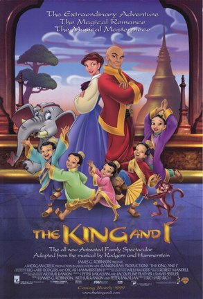 Framed King and I - cartoon Print