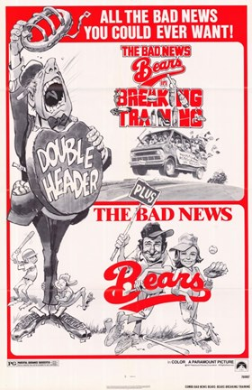 Framed he bad News Bears In Breaking Training Combo Bad News Bears Print