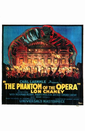 Framed Phantom of the Opera Fire to Opera House Print