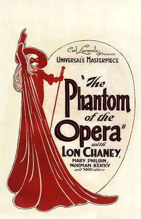 Framed Phantom of the Opera Art Deco Print