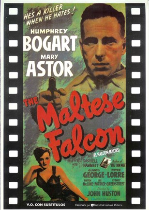 Framed Maltese Falcon Film Reel Print