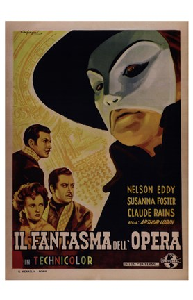 Framed Phantom of the Opera (French) Print