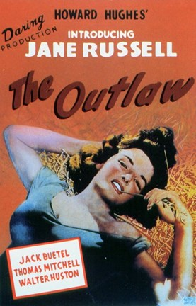 Framed Outlaw Introducing Jane Russell Print