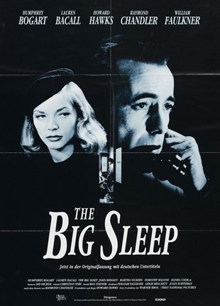 Framed Big Sleep Black and White Print