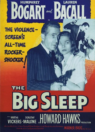 Framed Big Sleep Bogart and Bacall Print