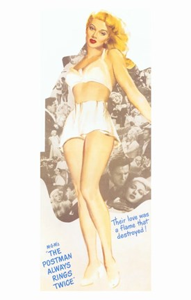 Framed Postman Always Rings Twice Pin Up Girl Print