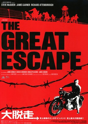 Framed Great Escape Red and Black Print