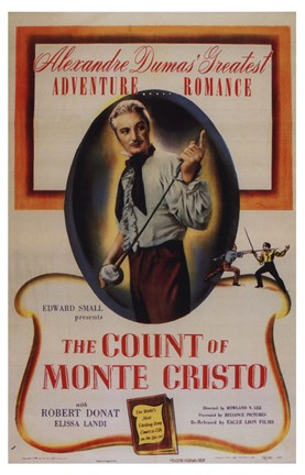 Framed Count of Monte Cristo - Adventure Print