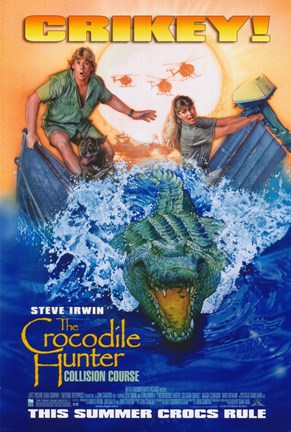 Framed Crocodile Hunter: Collision Course Print