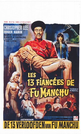 Framed Brides of Fu Manchu Print