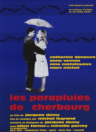 Framed Umbrellas of Cherbourg (french) Print