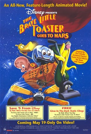 Framed Brave Little Toaster Goes to Mars Print
