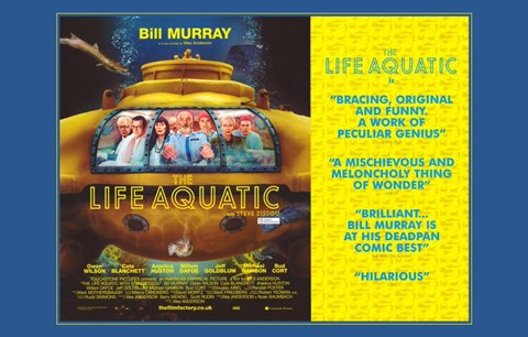 Framed Life Aquatic with Steve Zissou Print